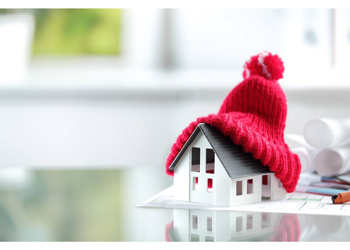 Winter Energy Efficiency House with Hat