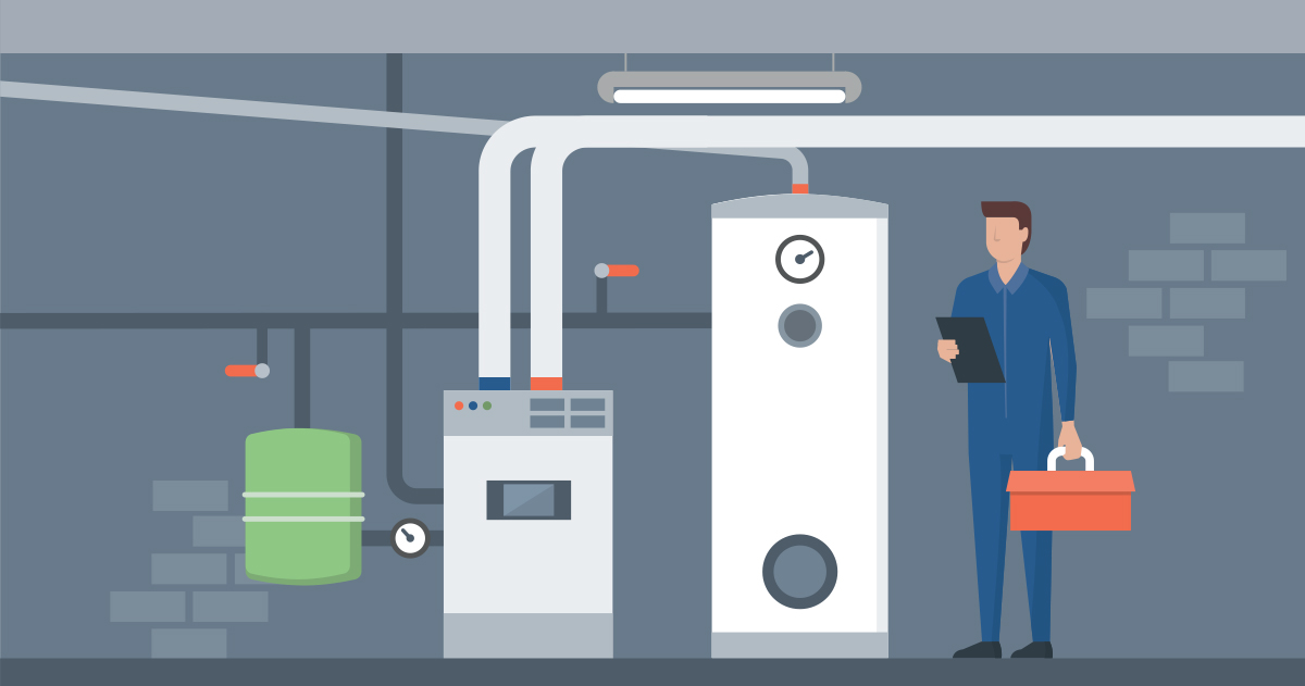 Residential boiler replacement professional