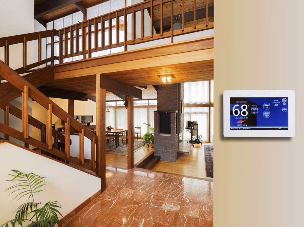 Programmable thermostat for heating bill savings