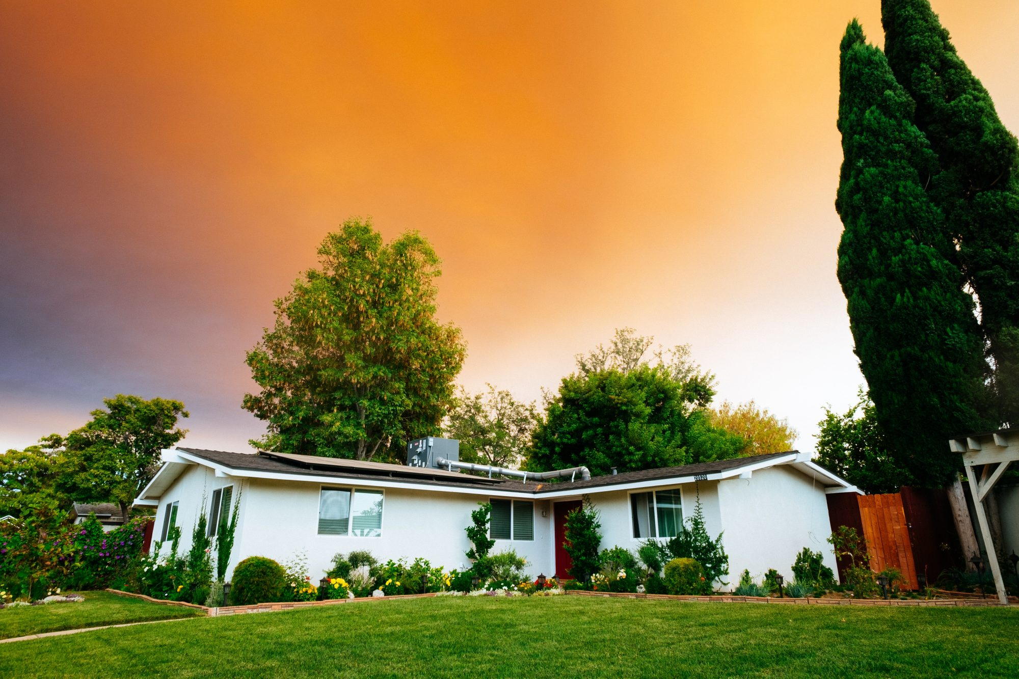 Landscaping for home energy conservation utility bills savings