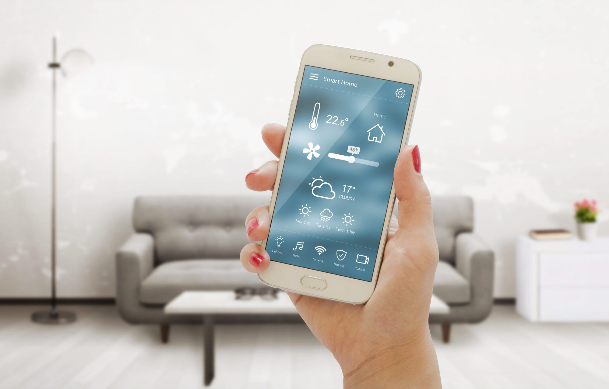 Smart thermostats cell phone