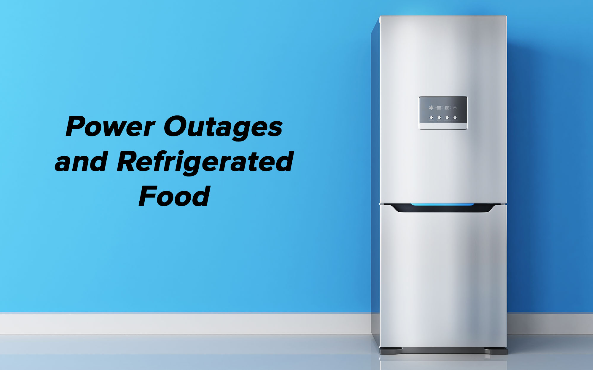 Refrigerated Food Fridge Power Outage Saving Groceries