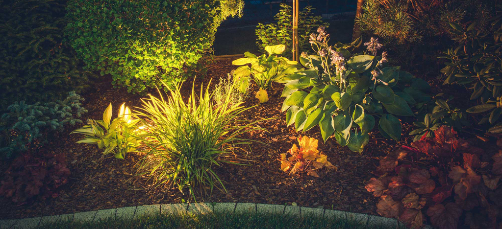 Garden landscape lighting